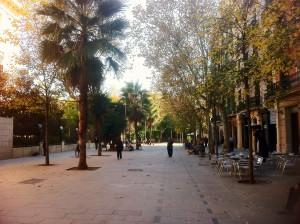 Enric Granados Barcelona Street