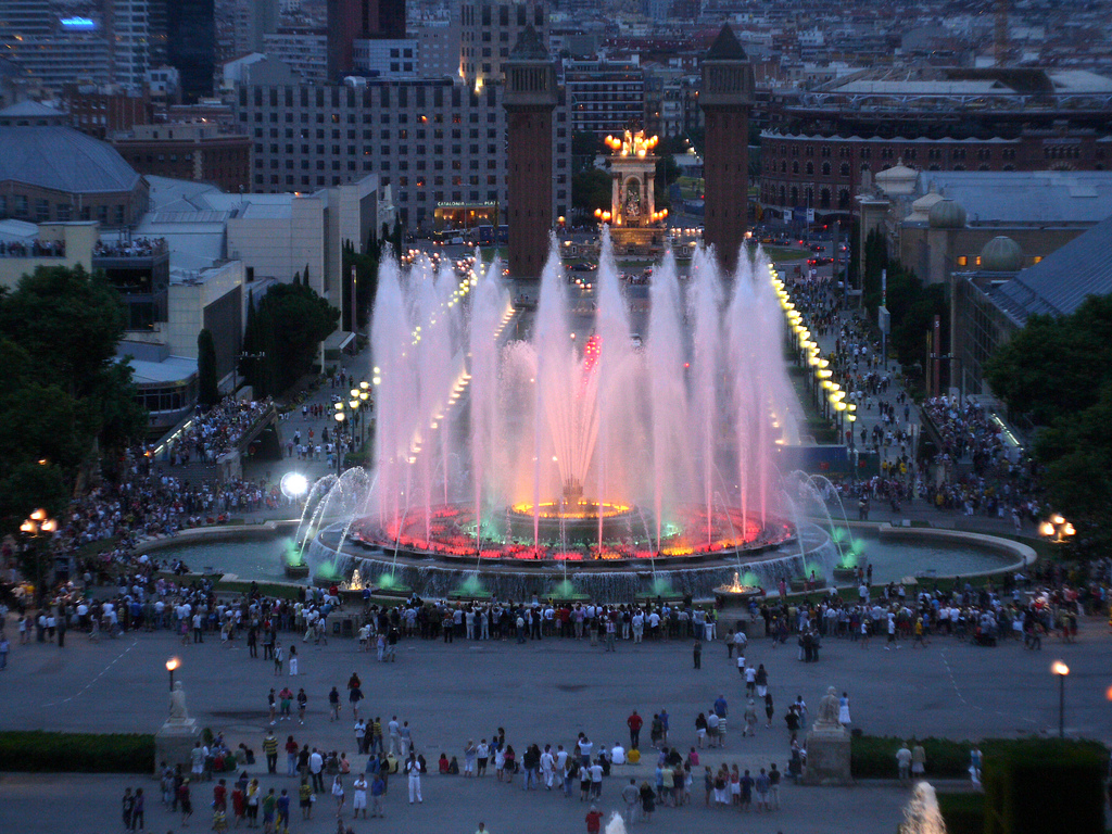 Image result for the magic fountain of montjuic