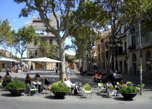 A lovely terrace restaurant in Sarria Sant Gervasi neighborhood.