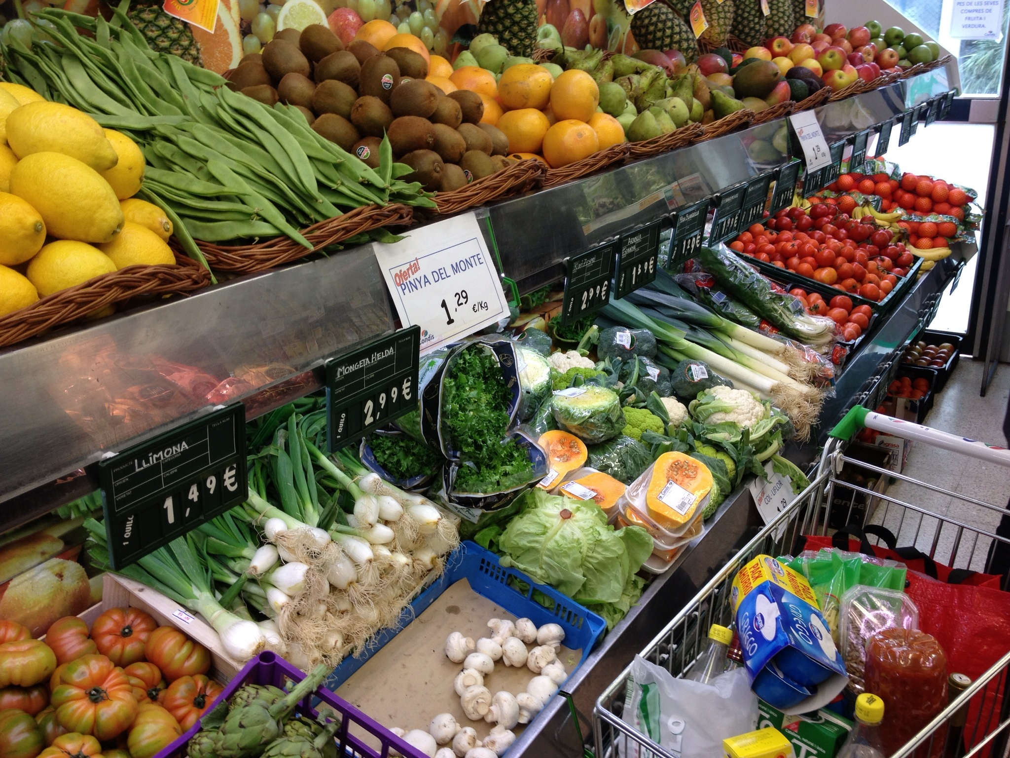 Grocery shopping in barcelona for Shopping cuisine