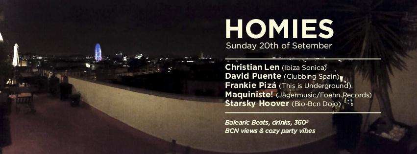 Homies 20 Sept Barcelona