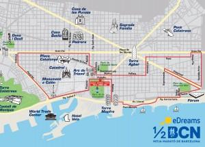 BCNConnect - Barcelona Half Marathon Route