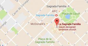 Sagrada Familia map