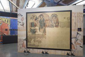 Pintura mural de l'Anunciació i la Visitació de l'església de Sant Martí de Puig-reig. S. XIII ©MHC
