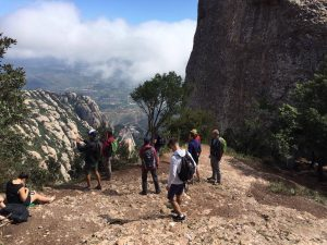 group on a peak