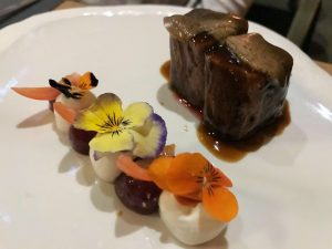 Beef and flowers