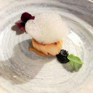 Scallop with foam