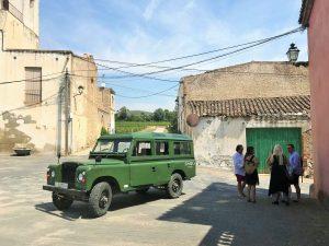 Jeep in village