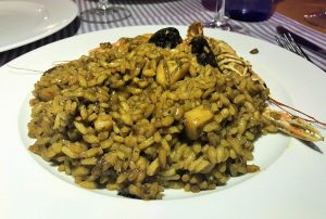 Closeup plate paella