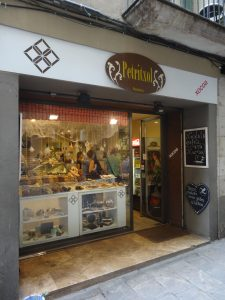 the chocolate street of Barcelona