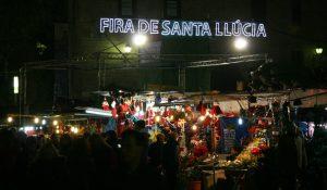 The Santa Llucia Fair in Barcelona
